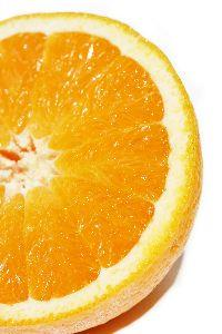 Image on Fruit Cut Orange