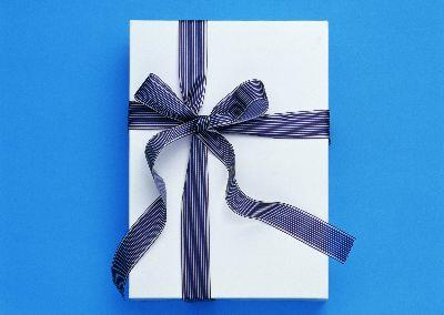 Image on Gift Blue