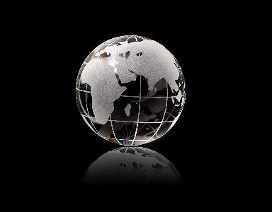 view the Image Globe Crystal