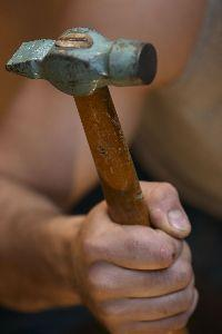 Image on Hand Hammering