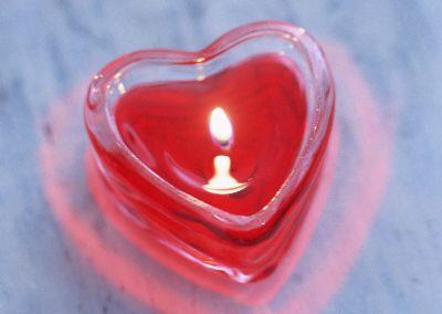 Image on Heart Candle