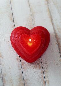 Image on Heart Candles