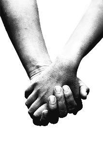 view the Image Holding Hands - Black And White