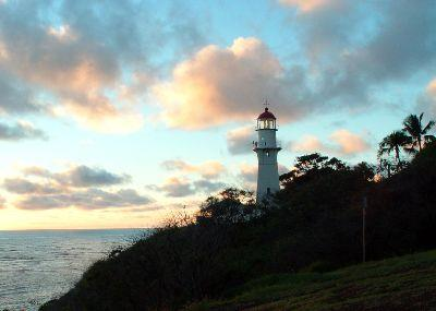 view the Image Lighthouse Sunset