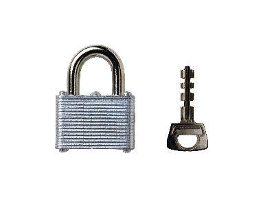 Image on Padlock Key