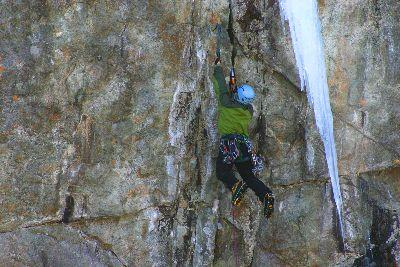 Image on Rock Climber
