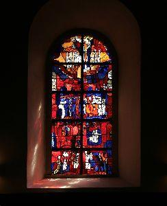 Image on Stained Window2