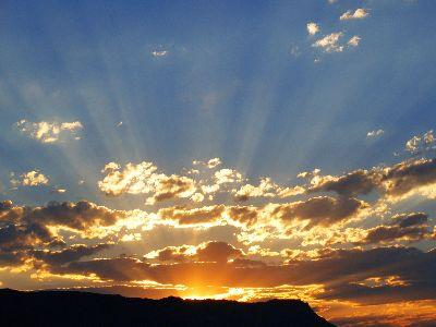 view the Image Sunset Heaven Beams
