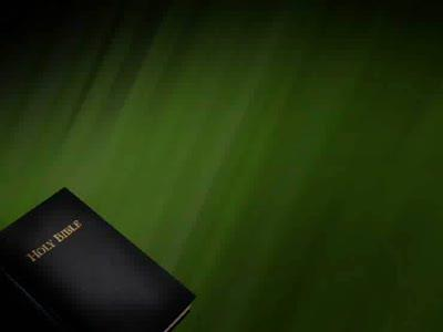 Motion Background on Bible - Dark Green