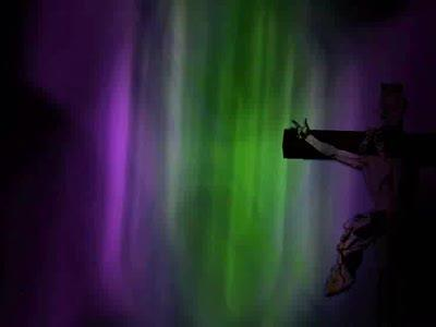 Motion Background on Christ On The Cross - Green And Purple