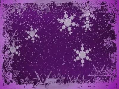 Motion Background on Christmas Snow Border - Purple