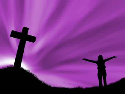 Motion Background on Cross Praise - Purple