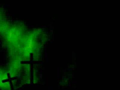 Motion Background on Smoky Crosses - Green