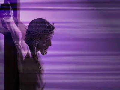 Motion Background on Jesus Lighted Flow - Purple