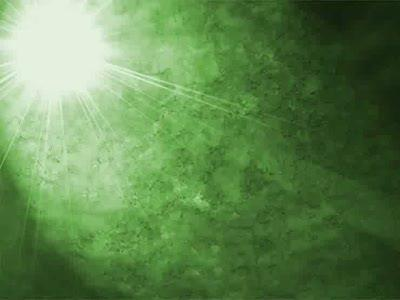 Motion Background on Lighted Star - Green
