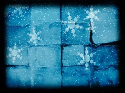 Motion Background on Old Snow - Blue
