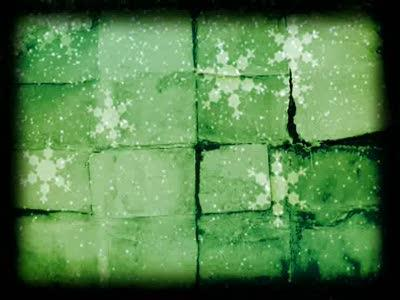 Motion Background on Old Snow - Green