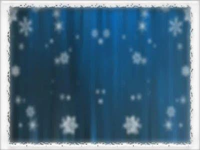 Motion Background on Bordered Snowfall - Blue