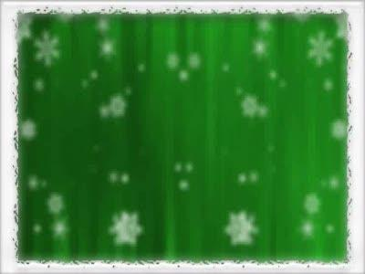 Motion Background on Bordered Snowfall - Green