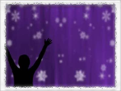 view the Motion Background Bordered Snowfall Praise - Purple