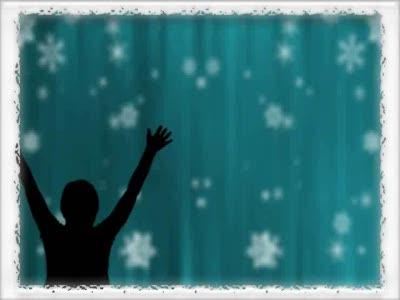 view the Motion Background Bordered Snowfall Praise - Teal