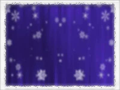 media Bordered Snowfall - Purple