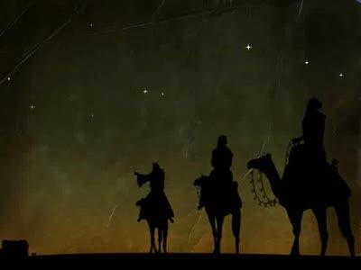 Motion Background on Wise Men Starry Night