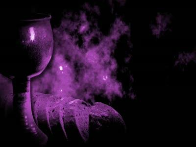 Motion Background on Grunge Communion - Purple