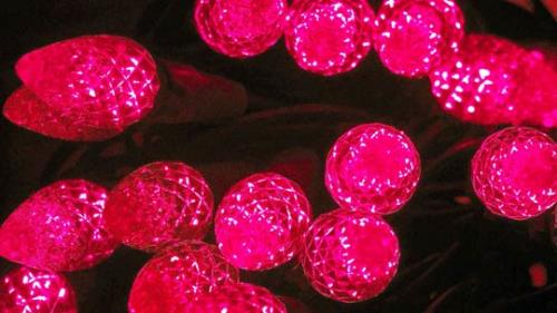 Motion Background on Christmas Flashing Lights - Red