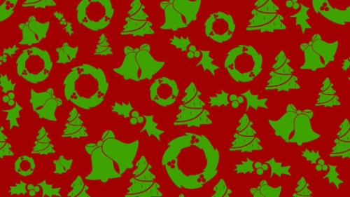 Motion Background on Christmas - Green On Red