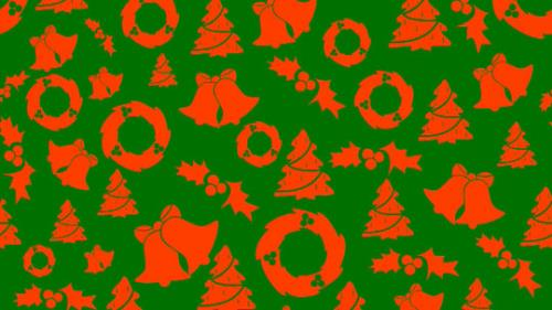 view the Motion Background Christmas - Red On Green