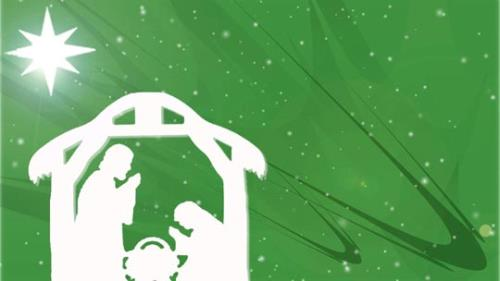 Motion Background on Christmas Star Manger - Green