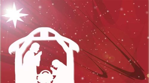 Motion Background on Christmas Star Manger - Red
