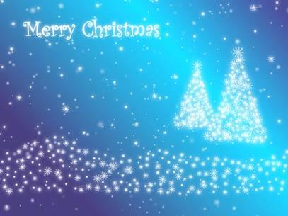 Motion Background on Christmas Tree Particles - Blue