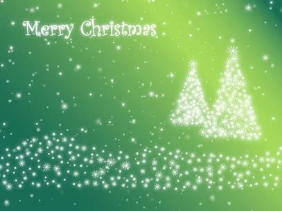 Motion Background on Christmas Tree Particles - Green