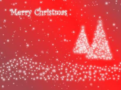 Motion Background on Christmas Tree Particles - Red