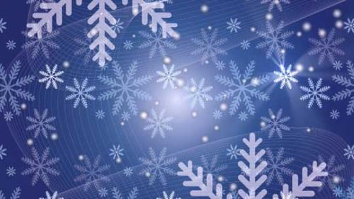 Motion Background on Snow Flake Light Crawl - Blue