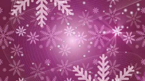 Motion Background on Snow Flake Light Crawl - Pink