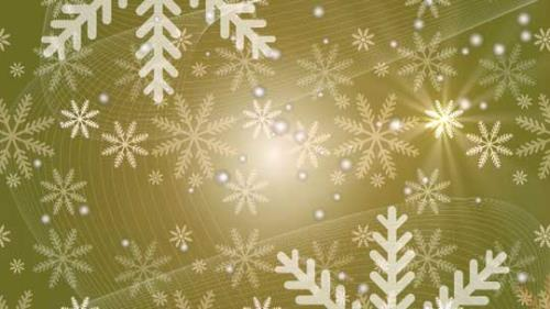 Motion Background on Snow Flake Light Crawl - Yellow