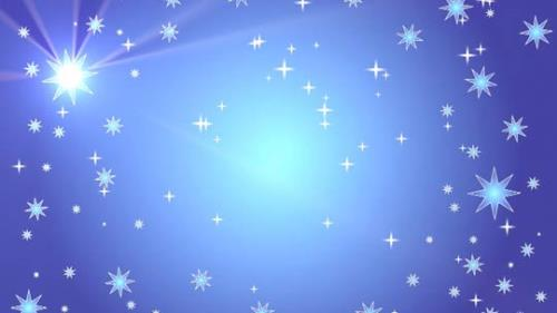 Motion Background on Star Light Sky - Blue