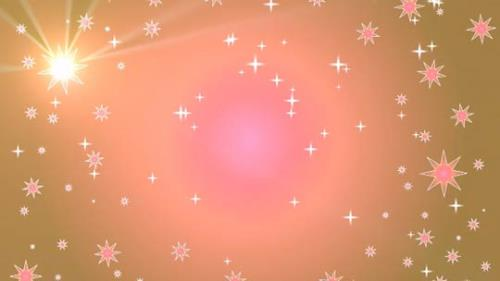 Motion Background on Star Light Sky - Orange