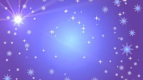 Motion Background on Star Light Sky - Purple