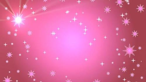 Motion Background on Star Light Sky - Pink