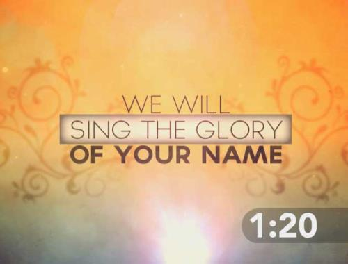 Countdown Video on Sing Worship Music Countdown