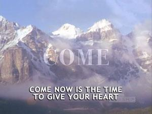 Worship Music Video on Come Now Is The Time