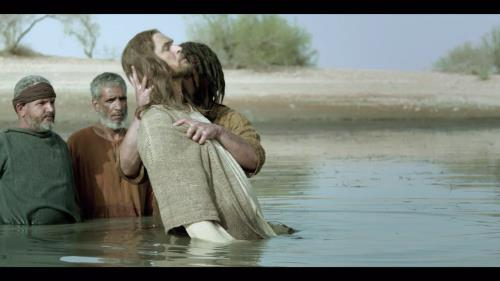 view the Video Illustration Jesus' Baptism From The Bible Tv Miniseries