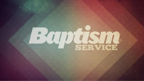 PowerPoint Template on Baptism Service 8
