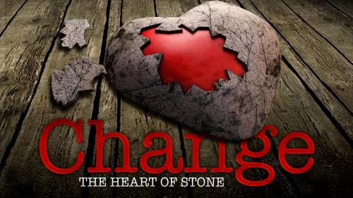 PowerPoint Template on Change Heart Of Stone