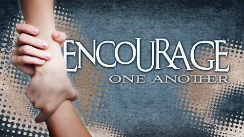 PowerPoint Template on Encourage One Another 2