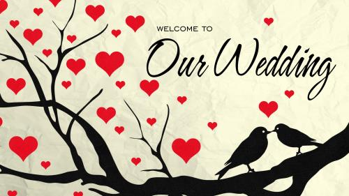 PowerPoint Template on Wedding Welcome Birds